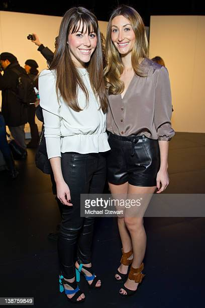 Designers Kristen O'Neill and Alexandra O'Neill attend the Porter Grey Fall 2012 presentation during MercedesBenz Fashion Week at The Box at Lincoln...