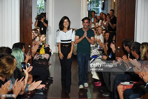 Designers Laura Kim and Fernando Garcia walk the runway at the at Monse show during Spring 2016 New York Fashion Week The Shows at the Norwood Club...