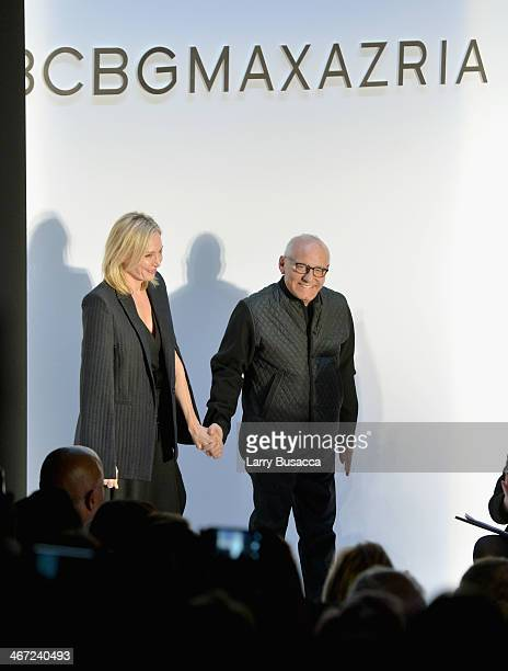 Designers Lubov Azria and Max Azria attend BCBGMAXAZRIA fashion show during MercedesBenz Fashion Week Fall 2014 at The Theatre at Lincoln Center on...