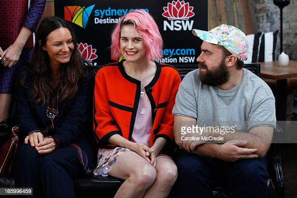 Designers Luke Sales and Anna Plunkett of Romance Was Born attend the Official Welcome of MercedesBenz Fashion Week Australia Spring/Summer 2013/14...