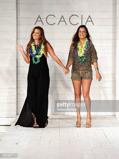 Designers Lyndie Irons and Naomi Newirth walk the runway at Lolli/Acacia Swim 2015 Collection at Soho Beach House on July 20 2014 in Miami Beach...