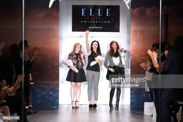 Designers Madison Geroski and Christian Romano walk the runway at ELLE Runway Collection By Kohl's STYLE360 Spring/Summer 2015 Collections on...