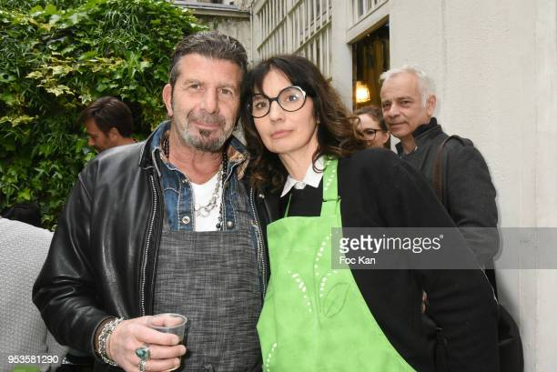 Designers Marc Bellay and Zelia Van den Bulke attend Zelia Van Den Bulke Aprons show At Zelia Abbesses Shop on May 1, 2018 in Paris, France.