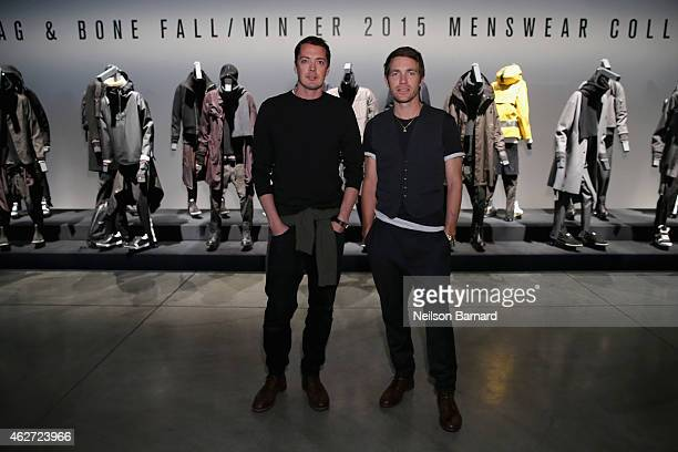 Designers Marcus Wainwright and David Neville attend Rag Bone Fall/Winter 2015 Menswear Presentation at Dia Center on February 3 2015 in New York City