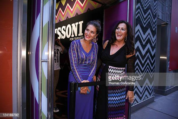 Designers Margherita Maccapani Missoni and Angela Missoni greet the guests lined up at the Missoni for Target Pop-up store at Target on September 8,...