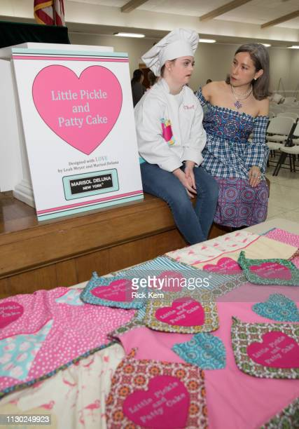 Designers Marisol Deluna and Leah Meyer attend the Marisol Deluna Foundation Community Fashion Show at the San Antonio Garden Center on February 16...