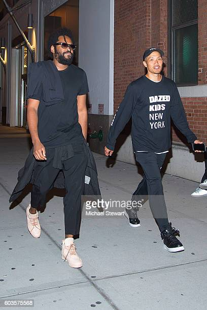 Designers Maxwell Osborne and DaoYi Chow are seen in the Meatpacking District on September 12 2016 in New York City