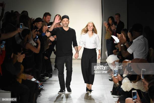 Designers Michael Colovos and Nicole Colovos walk the runway for TRESemme at Colovos fashion show during New York Fashion Week: The Shows at Gallery...