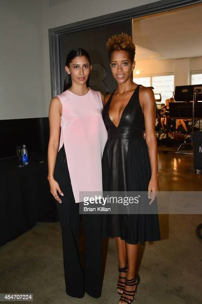 Designers Michelle Ochs and Carly Cushnie attend Cushnie Et Ochs during MADE Fashion Week Spring 2015 at Milk Studios on September 5, 2014 in New...