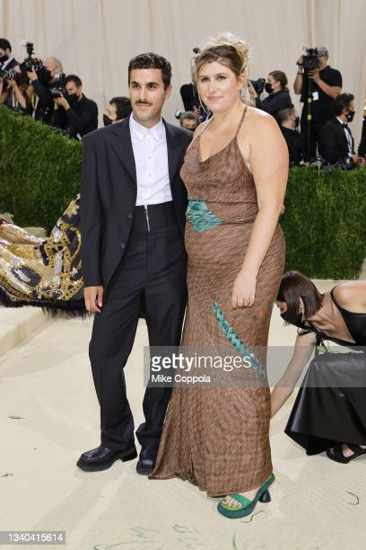 Designers Mike Eckhaus and Zoe Latta attend The 2021 Met Gala Celebrating In America: A Lexicon Of Fashion at Metropolitan Museum of Art on September...