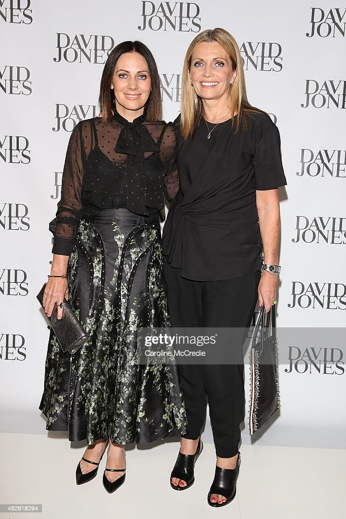 Designers Nicky and Simone Zimmerman arrives at the David Jones Spring/Summer 2014 Collection Launch at David Jones Elizabeth Street Store on July 30, 2014 in Sydney, Australia.