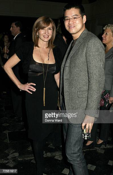 Designers Nicole Miller and Peter Som pose at the FedEx Corp and CFDA celebration of Stan Herman's 16year CFDA Presidency on Fifth Avenue November 14...
