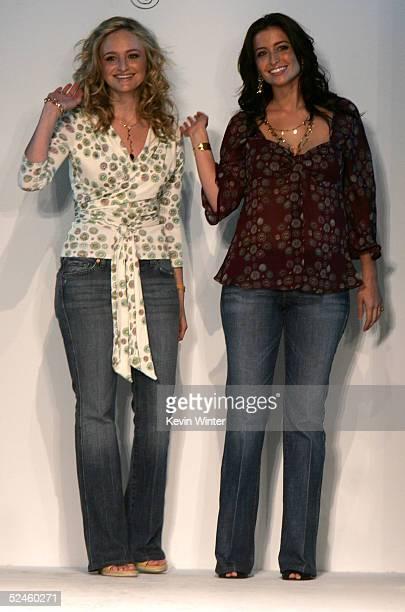 Designers Nina Firestone and Kara Smith the runway at the Karanina Fall 2005 show during MercedesBenz Fashion Week at Smashbox Studios March 20 2005...