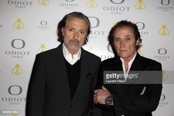 Designers of Paco Chicano Gilbert Ros and Franck Ros attend Dessiner L'Or et L'Argent Odiot Orfevre Exhibition Launch at Musee Des Arts Decoratifs on...
