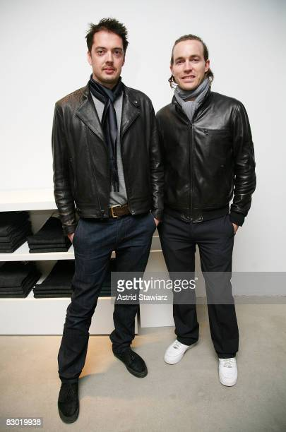 Designers of Rag & Bone Marcus Wainwright and David Neville celebrates Sloane Crosley's I Was Told There'd Be Cake at Helmet Lang on April 22, 2008...