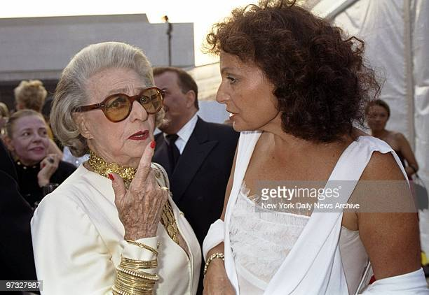 Designers Pauline Trigere and Diane Von Furstenberg get together at Lincoln Center's Avery Fisher Hall for the 20th annual American Fashion Awards