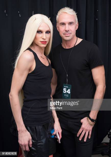 Designers Phillippe Blonde and David Blonde pose backstage at The Blonds fashion show during New York Fashion Week The Shows at Spring Studios on...