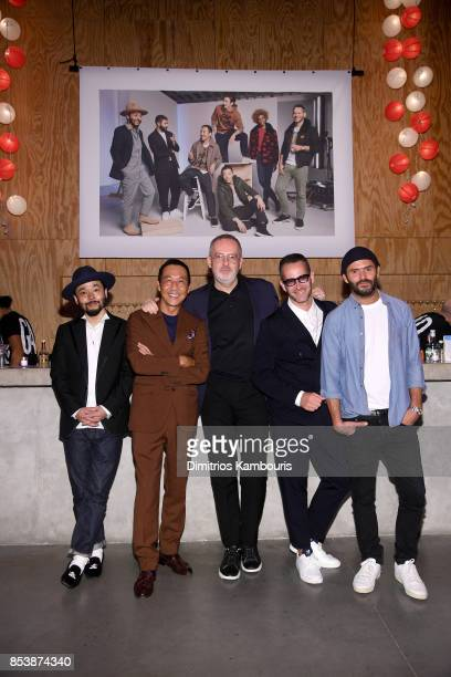 Designers Poggy Yasuto Kamoshita GQ Creative Director Jim Moore Jey Perie and Alexandre Mattiusi attend GQ x GAP Coolest Designers on the Planet 2017...