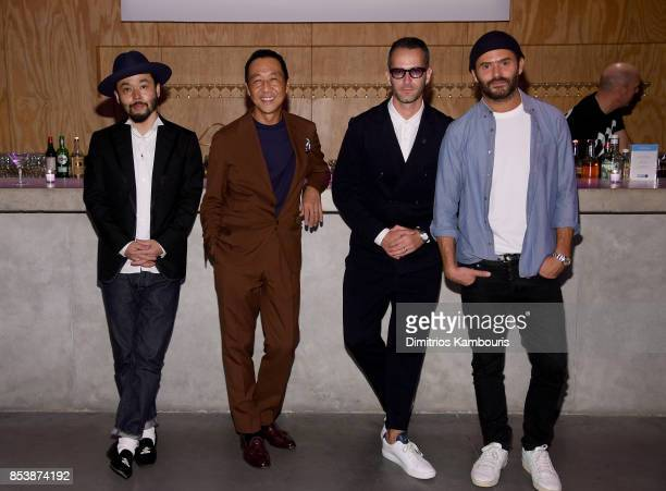 Designers Poggy Yasuto Kamoshita Jey Perie and Alexandre Mattiusi attend GQ x GAP Coolest Designers on the Planet 2017 at St Ann's Warehouse on...