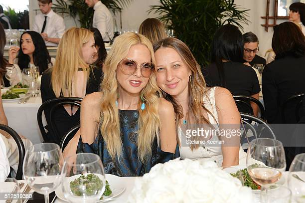 Designers Rachel Zoe and Jennifer Meyer attend NETAPORTER Celebrates Women Behind The Lens at Chateau Marmont on February 26 2016 in Los Angeles...