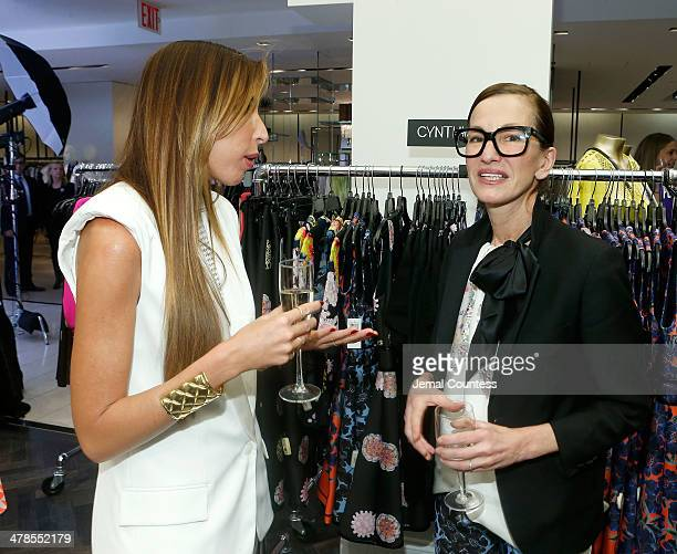 Designers Ronny Kobo and Cynthia Rowley attend The Collective Launch Event at Bloomingdale's 59th Street Store on March 13 2014 in New York City