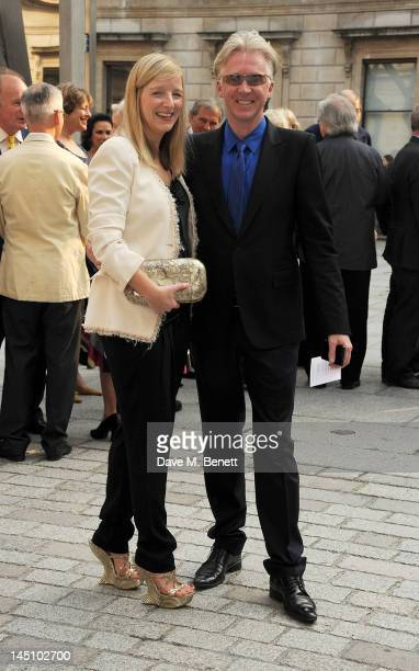 Designers Sarah Burton and Philip Treacy attend 'A Celebration Of The Arts' at the Royal Academy of Arts on May 23 2012 in London England