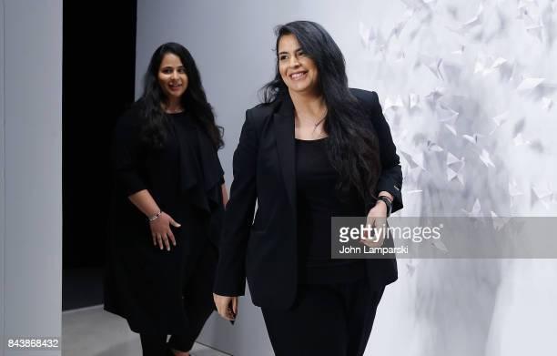 Designers Shaikha Noor Al Khalifa and Shaikha Haya Al Khalifa attend Noon By Noor September 2017 New York Fashion Week The Shows at Gallery 3...