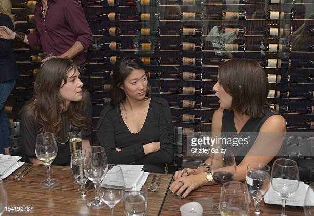 Designers Shaina Mote Kristine Kim and Lisa Ziven attend GenArt's 14th Annual Fresh Faces In Fashion Intimate Dinner at Andaz on October 15 2012 in...