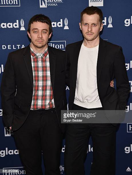 Designers Shane Gabier and Chris Peters attend the 27th Annual GLAAD Media Awards in New York on May 14 2016 in New York City