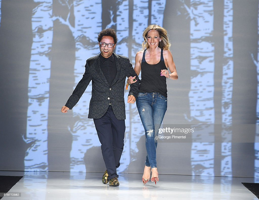 Designers Shawn Hewson and Ruth Promislow present their 2016 collection during Toronto Fashion Week Fall 2016 at David Pecaut Square on March 15, 2016 in Toronto, Canada.