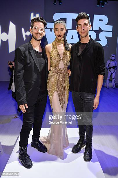 UNTTLD designers Simon Belanger and Jose Manuel StJacques win the Star Wars inspired design competition during World MasterCard Fashion Week Spring...