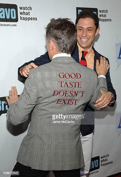 Designers Simon Doonan and Jonathan Adler attend Bravo's 1st AList Awards at the Hammerstein Ballroom on June 4 2008 in New York City