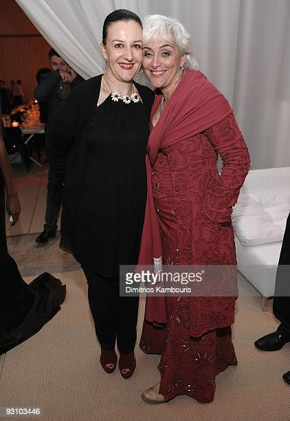 Designers Sophie Theallet and Alabama Chanin attend The CFDA/Vogue Fashion Fund Awards at Skylight Studio on November 16 2009 in New York City
