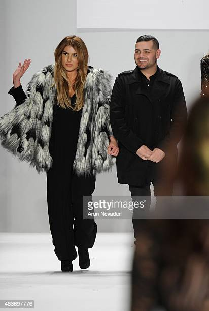 Designers Stephanie Costello and Michael Costello walk the runway at the Art Hearts Fashion Show Presented By AIDS Healthcare Foundation fashion show...