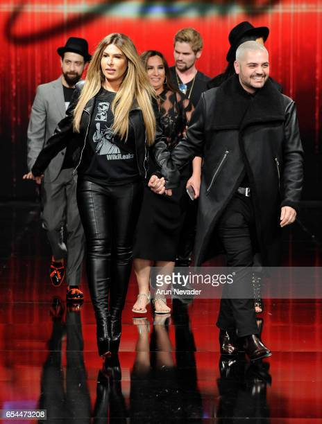 Designers Stephanie Costello and Michael Costello walk the runway at Art Hearts Fashion LAFW Fall/Winter 2017 Day 3 at The Beverly Hilton Hotel on...