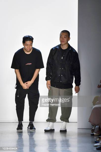 Designers Terrence Kim and Kevin Kim walk the runway for Concept Korea during New York Fashion Week The Shows at Gallery I at Spring Studios on...