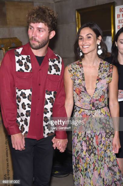 Designers Timo Weiland and Danielle Snyder attend the 2017 Gordon Parks Foundation Awards gala at Cipriani 42nd Street on June 6 2017 in New York City