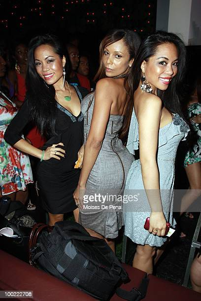Designers ToTam and ToNya of Sachika and Alisa Maria attend MYA's album releaseat Greenhouse on May 20 2010 in New York City