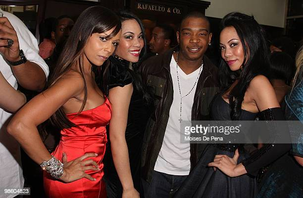 Designers ToTam and ToNya TonNu of Sachika Alisa Maria and Ja Rule attend the NFL Draft grand opening celebration at Rafaello Co Jewelers on April 21...