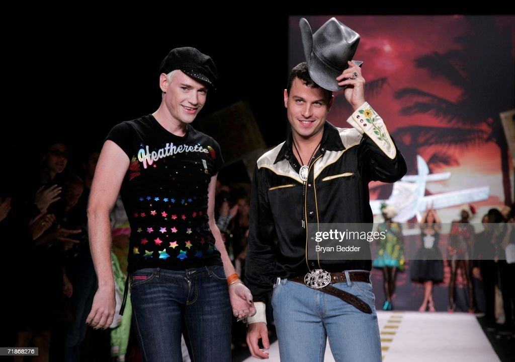 Designers Traver Rains and Richie Rich walk the runway at the Heatherette Spring 2007 fashion show during Olympus Fashion Week September 12, 2006 in New York City.
