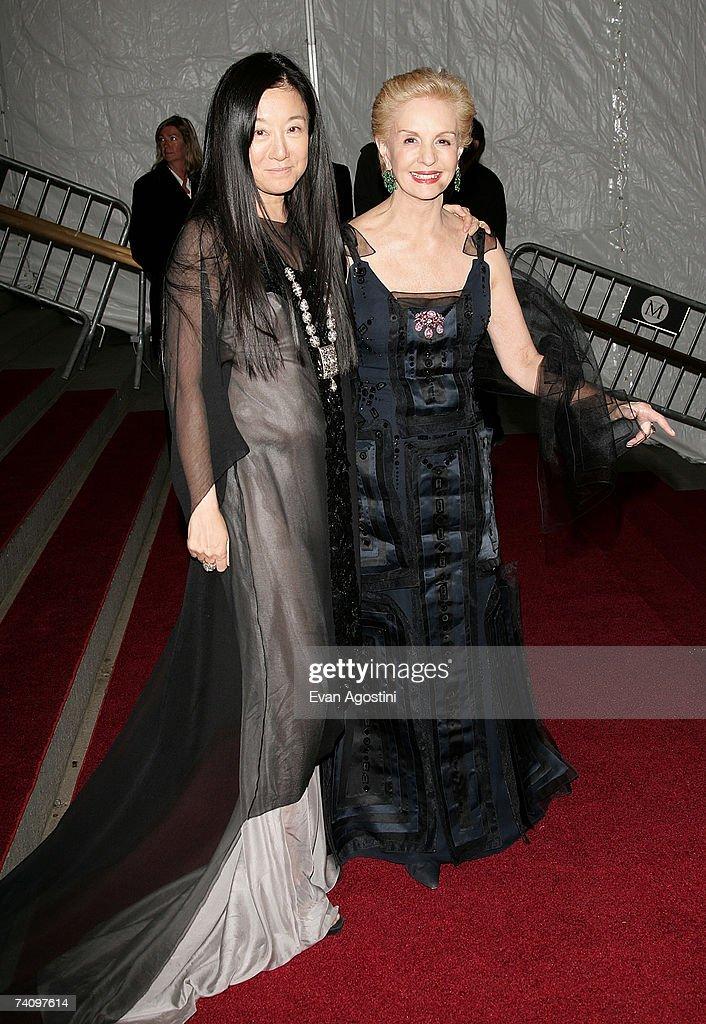 Designers Vera Wang and Carolina Herrera leaving The Metropolitan Museum of Art's Costume Institute Gala May 07, 2007 in New York City.