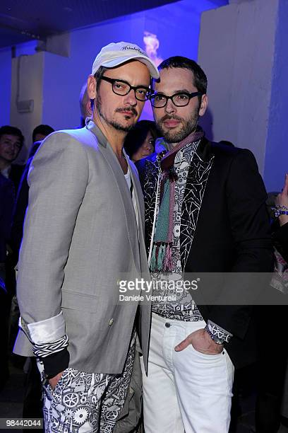 Designers Viktor Horsting and Rolf Snoeren attend the MINI Countryman Picnic event on April 13 2010 in Milan Italy