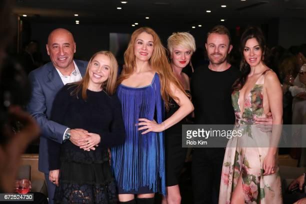 Designers Vito Bacarella Iryna Ivanova Sonjja Baram Marina Micanovic and Sylvio Roubertto Kovacic attend the St Sava Fundraising Fashion Show at...