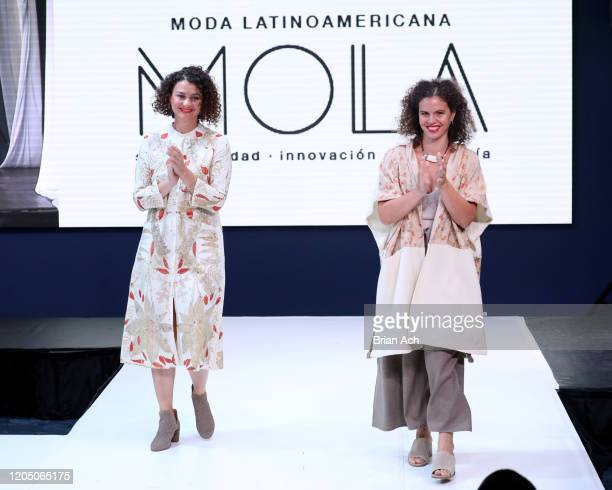 Designers walk the runway for Cerrito de Indios during NYFW Powered By hiTechMODA on February 08 2020 in New York City
