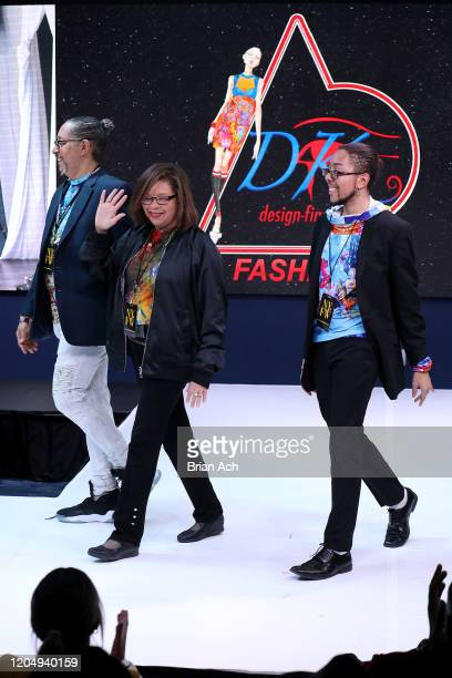 Designers walk the runway for dkDesign Fashion during NYFW Powered By hiTechMODA on February 08, 2020 in New York City.