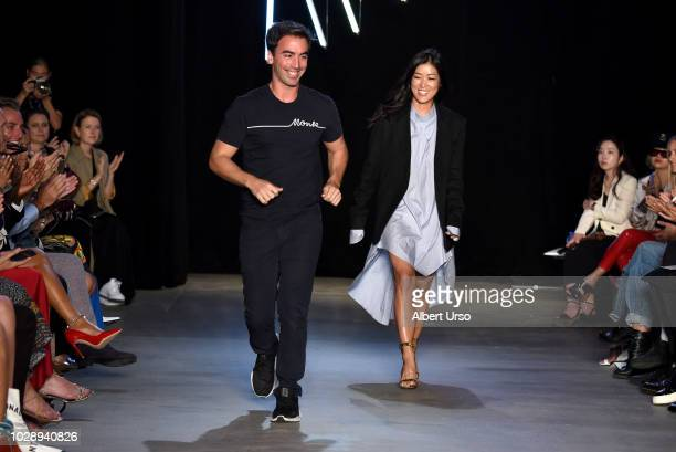 Designers walk the runway for Monse during New York Fashion Week The Shows at SIR Stage 37 on September 7 2018 in New York City