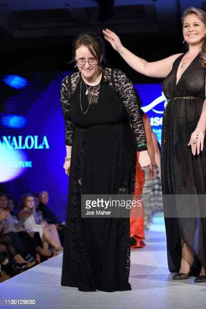 Designers walk the runway for Nanalola Couture by Monica Jones at the House of iKons show during London Fashion Week February 2019 at the Millennium...