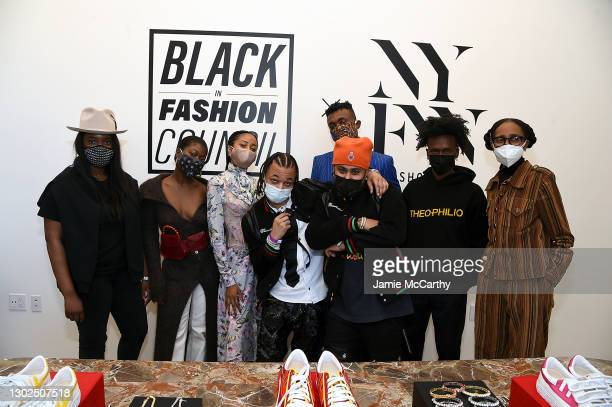 "Designers Whitney Michel, Sade Mims, Akua Shabaka, Kyle ""Ksace"" Nelson, Gil ""Thermal"" Taveras, Chuks Collins, Edvin Thompson and Rebecca Henry attend..."