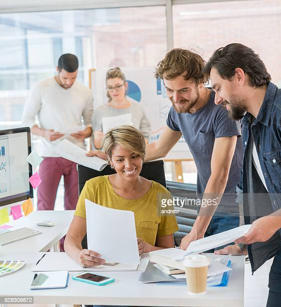Designers working at a creative office