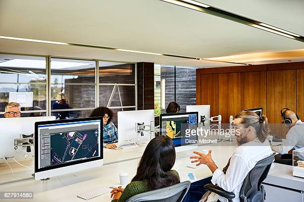 Designers working in modern office